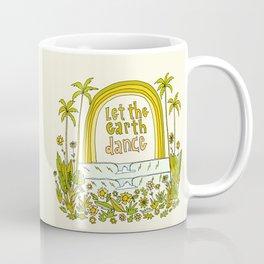 let the earth dance // retro surf art by surfy birdy Coffee Mug