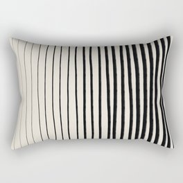 Black Vertical Lines Rectangular Pillow