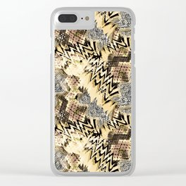 African pattern. Clear iPhone Case