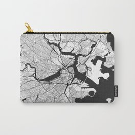 Boston Map Gray Carry-All Pouch
