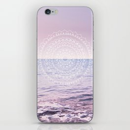 Blissful Ocean Dream Mandala #1 #pastel #wall #decor #art #society6 iPhone Skin
