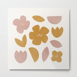 modern abstract flower print Metal Print