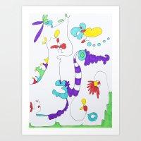doodle land Art Print