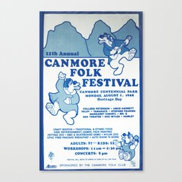 11. Canmore Folk Music Festival (1988) Canvas Print