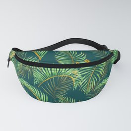 Palm havaiian style leaves pattern Fanny Pack