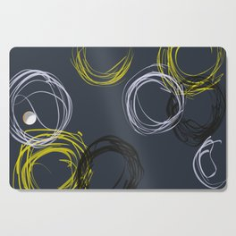 Modern Geometric Circles on Grey Cutting Board