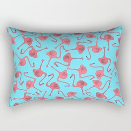 Flamingo Pattern Rectangular Pillow