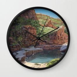 Outback Oasis Wall Clock