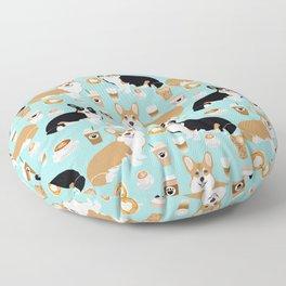 Corgi coffee welsh corgis dog breed pet lovers corgi crew Floor Pillow