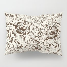 Floral seamless pattern in Gzhel style Pillow Sham