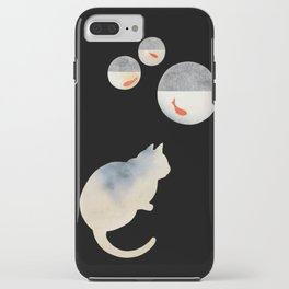 Japanese Cats Series - Goldfish Bowls iPhone Case