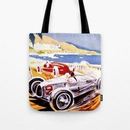 Vintage 1936 Monaco Grand Prix Racing Wall Art Tote Bag