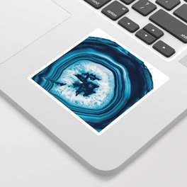 Blue White Agate #2 #gem #decor #art #society6 Sticker
