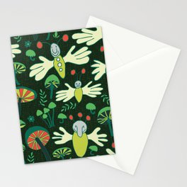 fingerflies and glowing mushrooms Stationery Cards