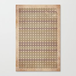 Pingstripe (Muted) Canvas Print