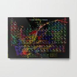 Periodic Table RGB Metal Print