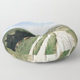 A trail in the peak district Floor Pillow