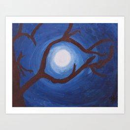 Moon So Bright Art Print