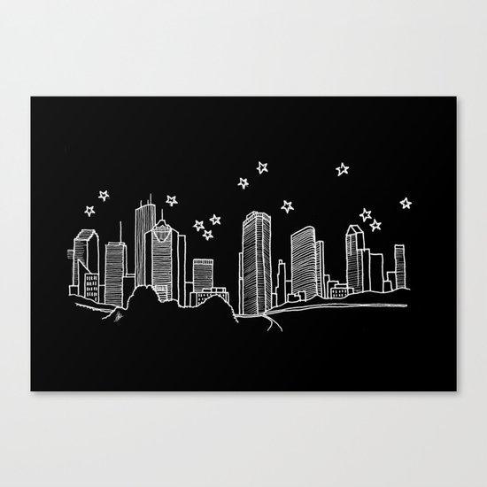 Houston, Texas City Skyline Canvas Print