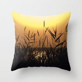 Seagrass - Summersunset - Isle Ruegen Throw Pillow