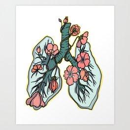 suffocating in bloom Art Print