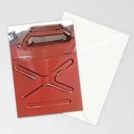 Gasoline Tank Petrol Fire Danger Fuel Gallon Tank Stationery Cards