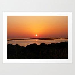 Tranquil Sunset, Paros Island, Greece  Art Print