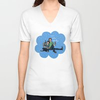 the fault in our stars V-neck T-shirts featuring The Fault in Our Stars by Sarah Hopkins