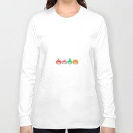 Pomme, Pêche, Poire, Abricot Long Sleeve T-shirt