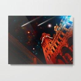 Stargazing on Main Street Metal Print
