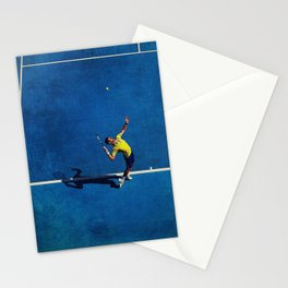 Novak Djokovic Tennis Serving Stationery Cards