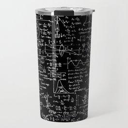 Physics Equations on Chalkboard Travel Mug