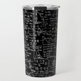 Physics Equations on Chalkboard Travel Mug