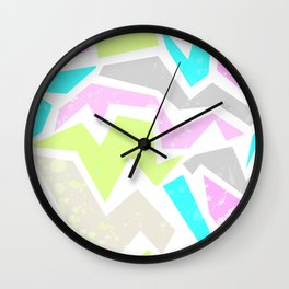 Abstract painting in pastel shades . Wall Clock