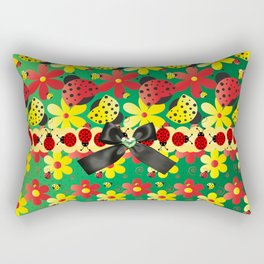 Ladybug Hoopla Rectangular Pillow
