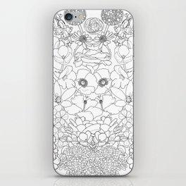 Mirrored Flowers iPhone Skin