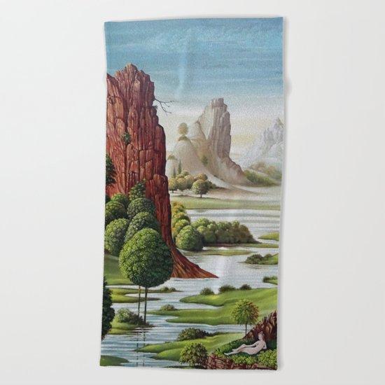valley water Beach Towel