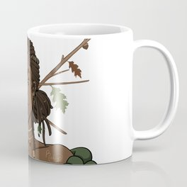 Autumn Oak Goddess • Black Girl Magic in Fall Colors Coffee Mug