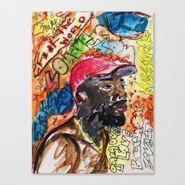 sonder son,brent faiyaz,poster,art,wall art,decor,music,rnb,lyrics,colourful,colorful,cool,dope,post Canvas Print
