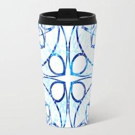 Blue Boho Chic Mandala Pattern Travel Mug