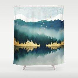 Mist Reflection Shower Curtain