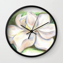 Southern Magnolia Blossom Pastel Wall Clock