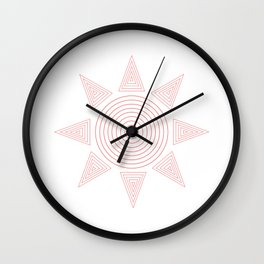 Geometric sun Wall Clock