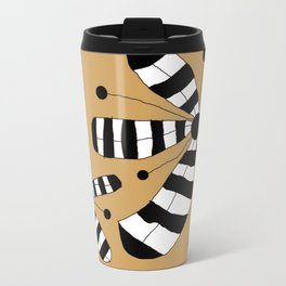 FLOWERY ZEBINA / ORIGINAL DANISH DESIGN bykazandholly Travel Mug