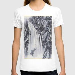 12,000pixel-500dpi - Kawanabe Kyosai - Waterfall, Eagle And Monkey - Digital Remastered Edition T-shirt
