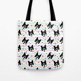 CMYK Cat Pattern Tote Bag