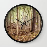 indiana Wall Clocks featuring Indiana woods by Bonnie Jakobsen-Martin