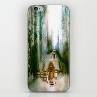 """hobbit iPhone & iPod Skins featuring """"HOBBIT HOUSE"""" by FOXART  - JAY PATRICK FOX"""