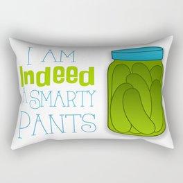 I am indeed a smarty pants. Rectangular Pillow