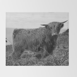 Highland cow II Throw Blanket
